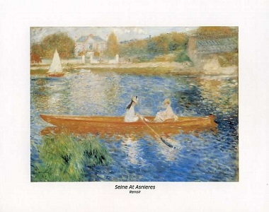 Seine River at Asnieres by Renoir